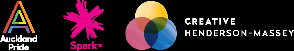 Logos - Spark, Creative Henderson Massey, Auckland Pride